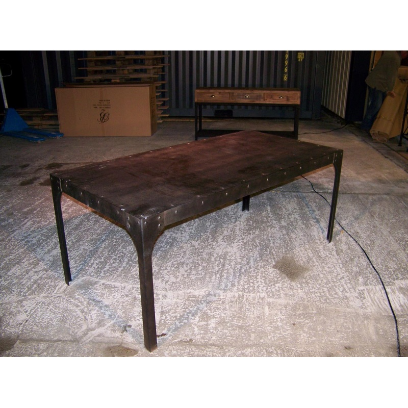 tables style industriel bois fer table basse design renovee bois et fer table basse fer. Black Bedroom Furniture Sets. Home Design Ideas