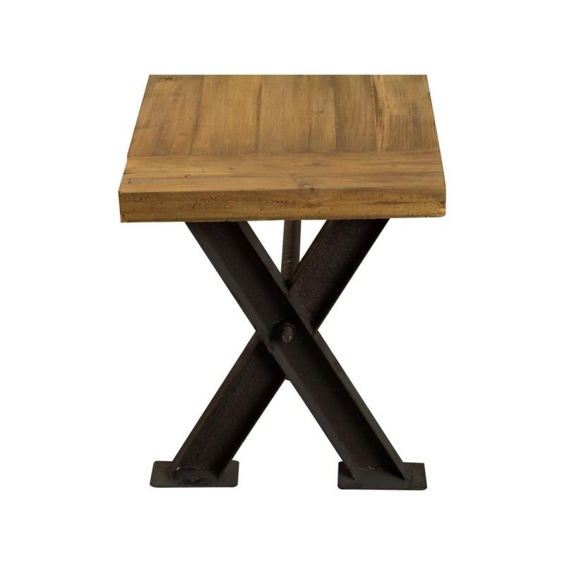 banc fer bois 200 cm jp2b d coration. Black Bedroom Furniture Sets. Home Design Ideas