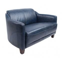 Canapé Gentleman Vintage Bleu 3p