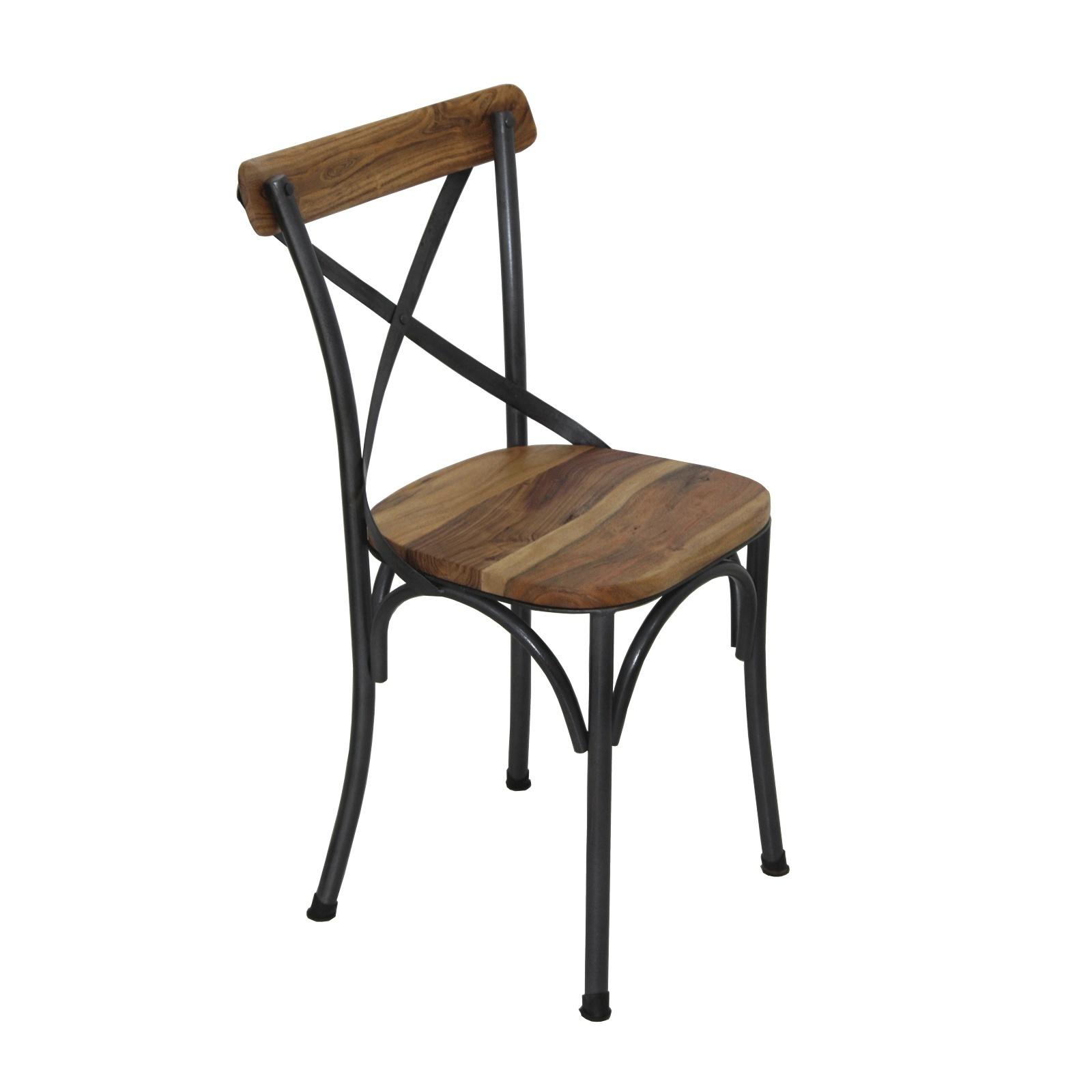chaise de bistro industrielle. Black Bedroom Furniture Sets. Home Design Ideas