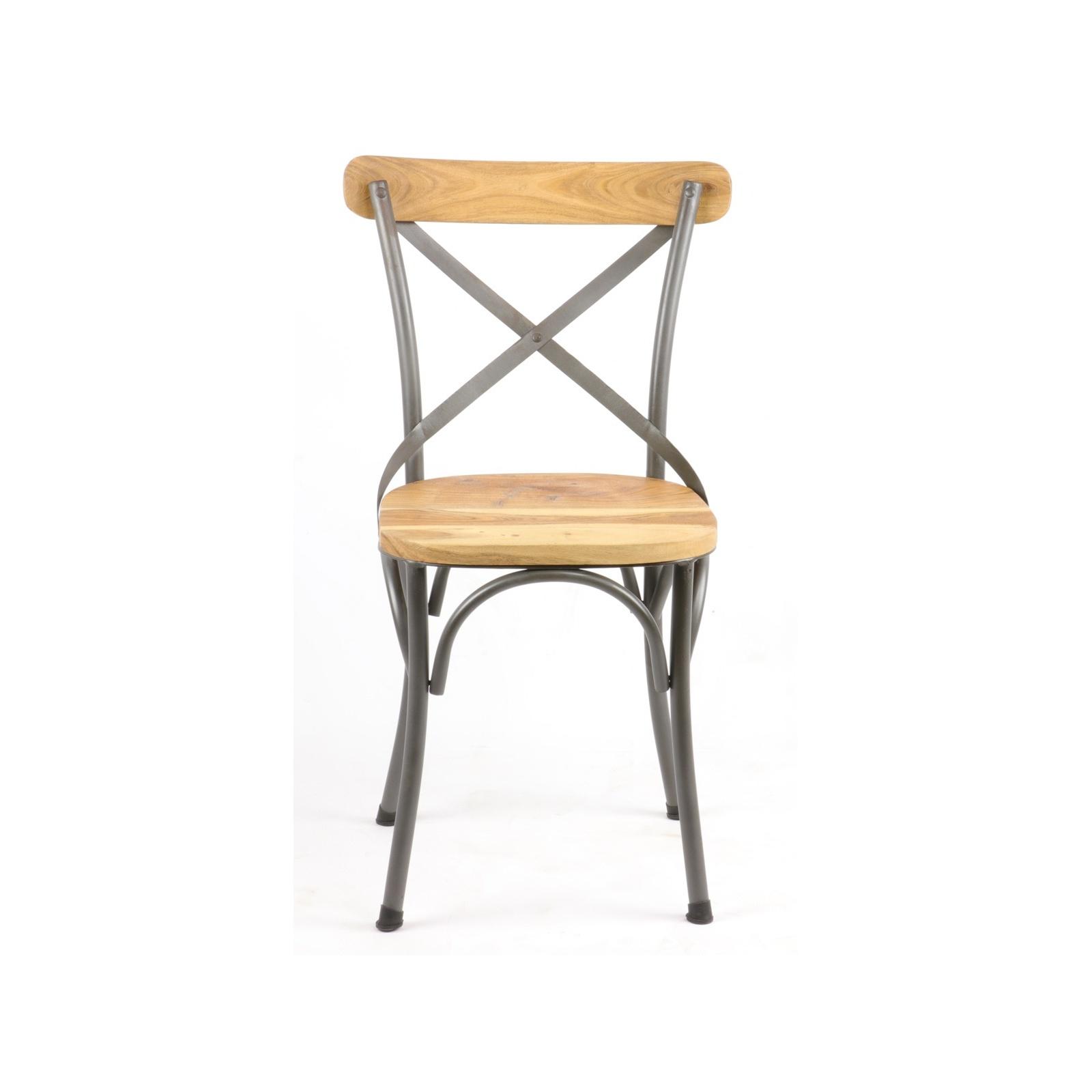 chaise de bistrot industrielle. Black Bedroom Furniture Sets. Home Design Ideas