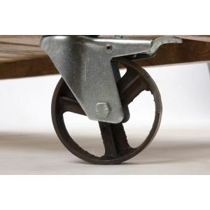 Console en bois sur roulette