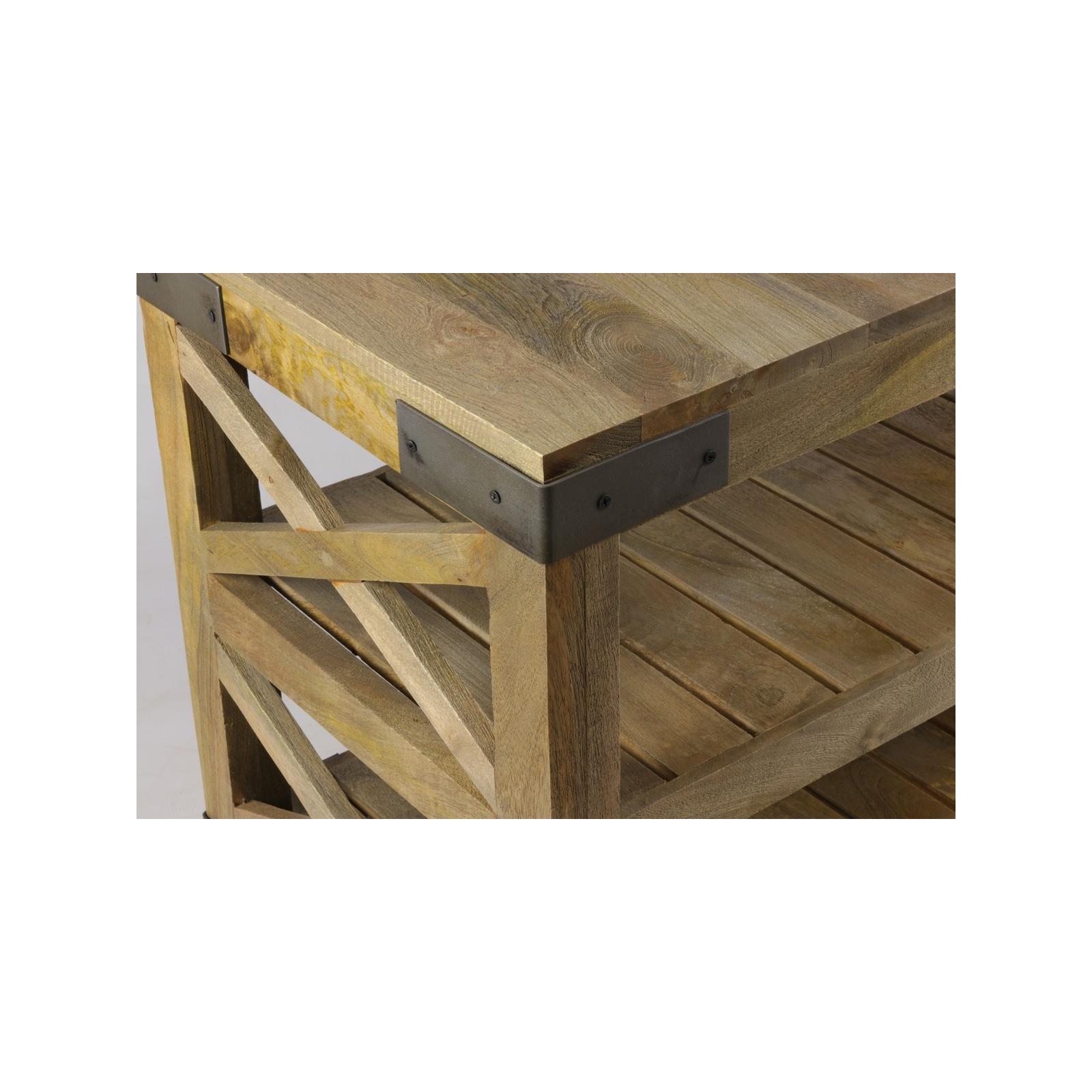 grande console en bois sur roulette. Black Bedroom Furniture Sets. Home Design Ideas