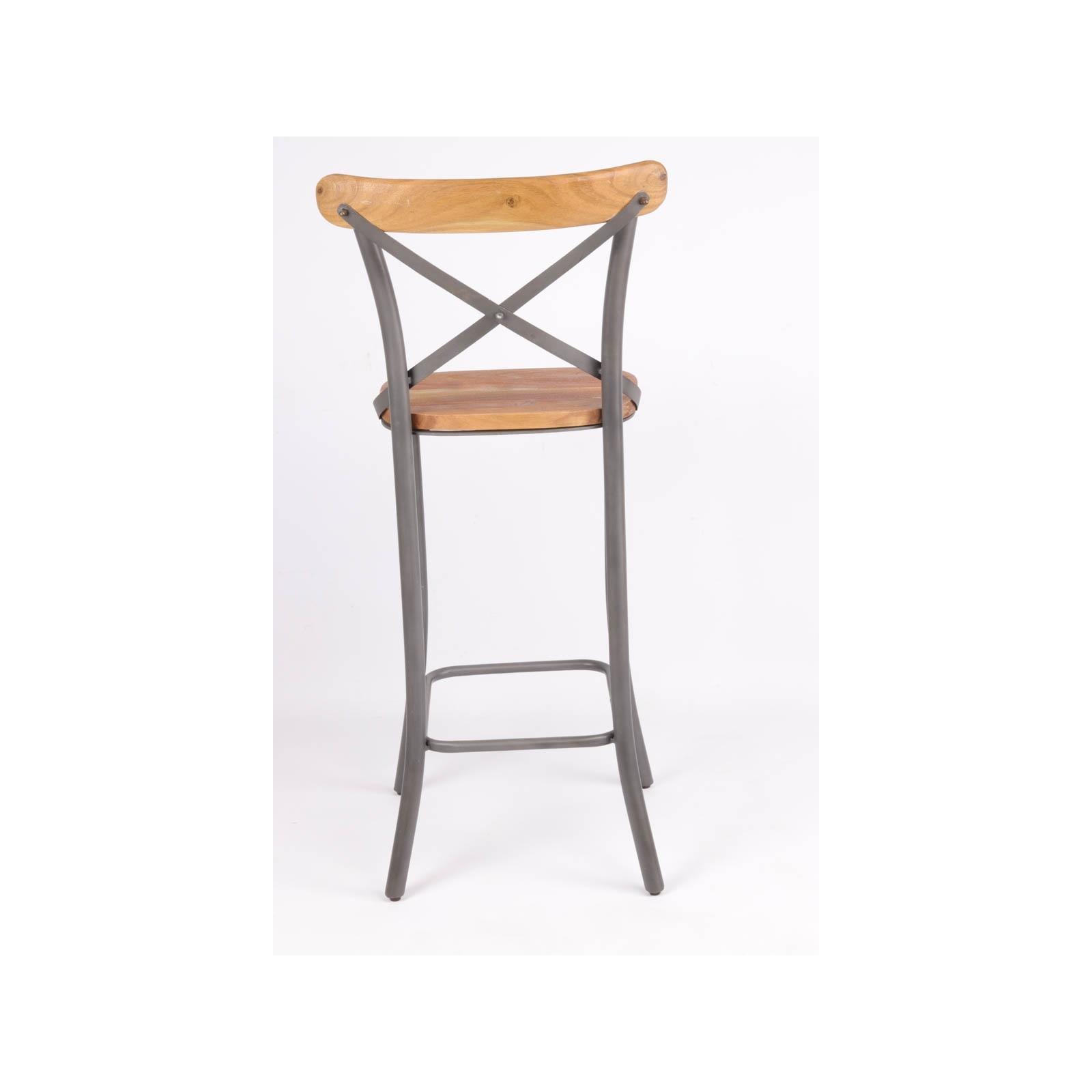 chaise haute de bistro industrielle jp2b d coration. Black Bedroom Furniture Sets. Home Design Ideas