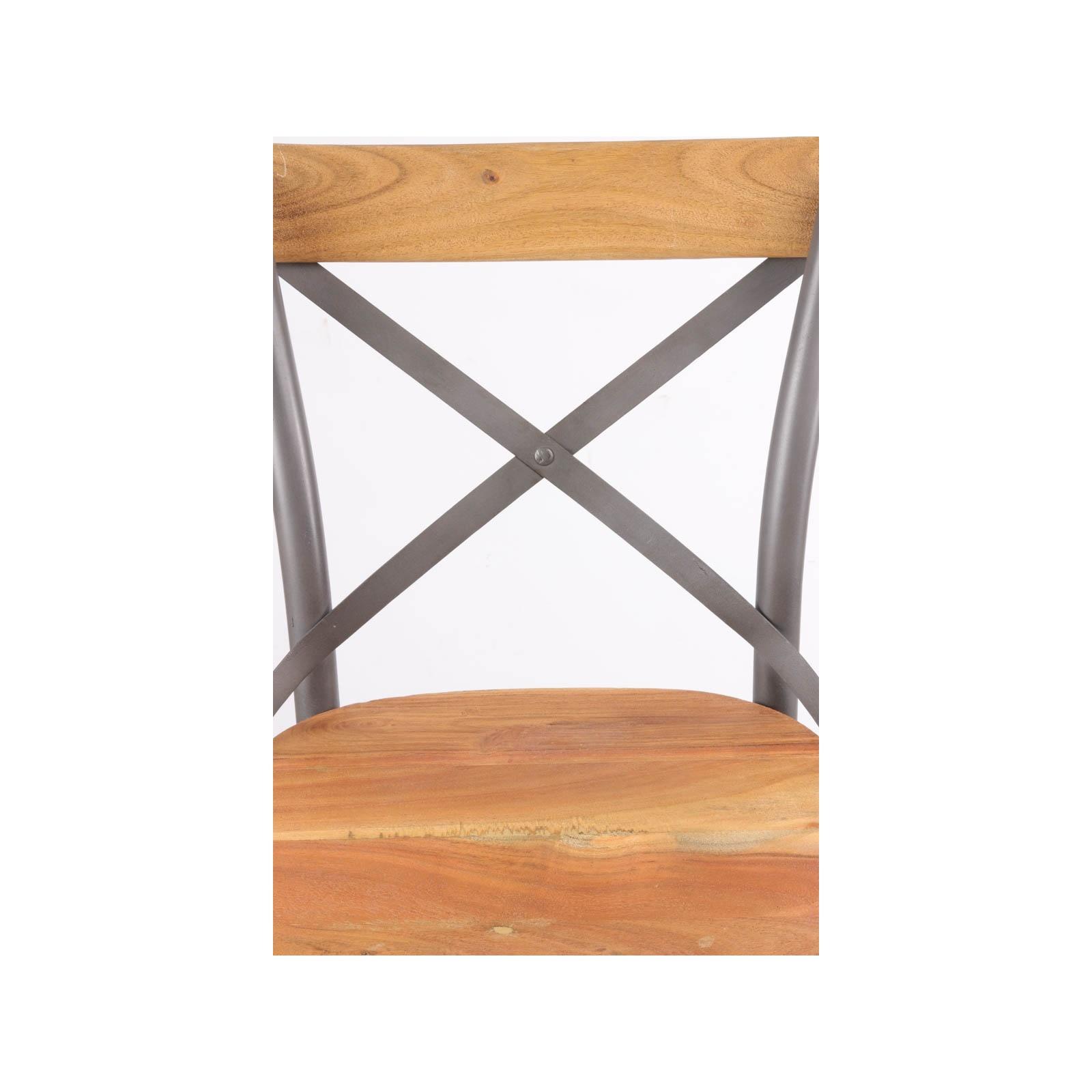 chaise haute de bistro industrielle jp2b d coration On chaise table industrielle