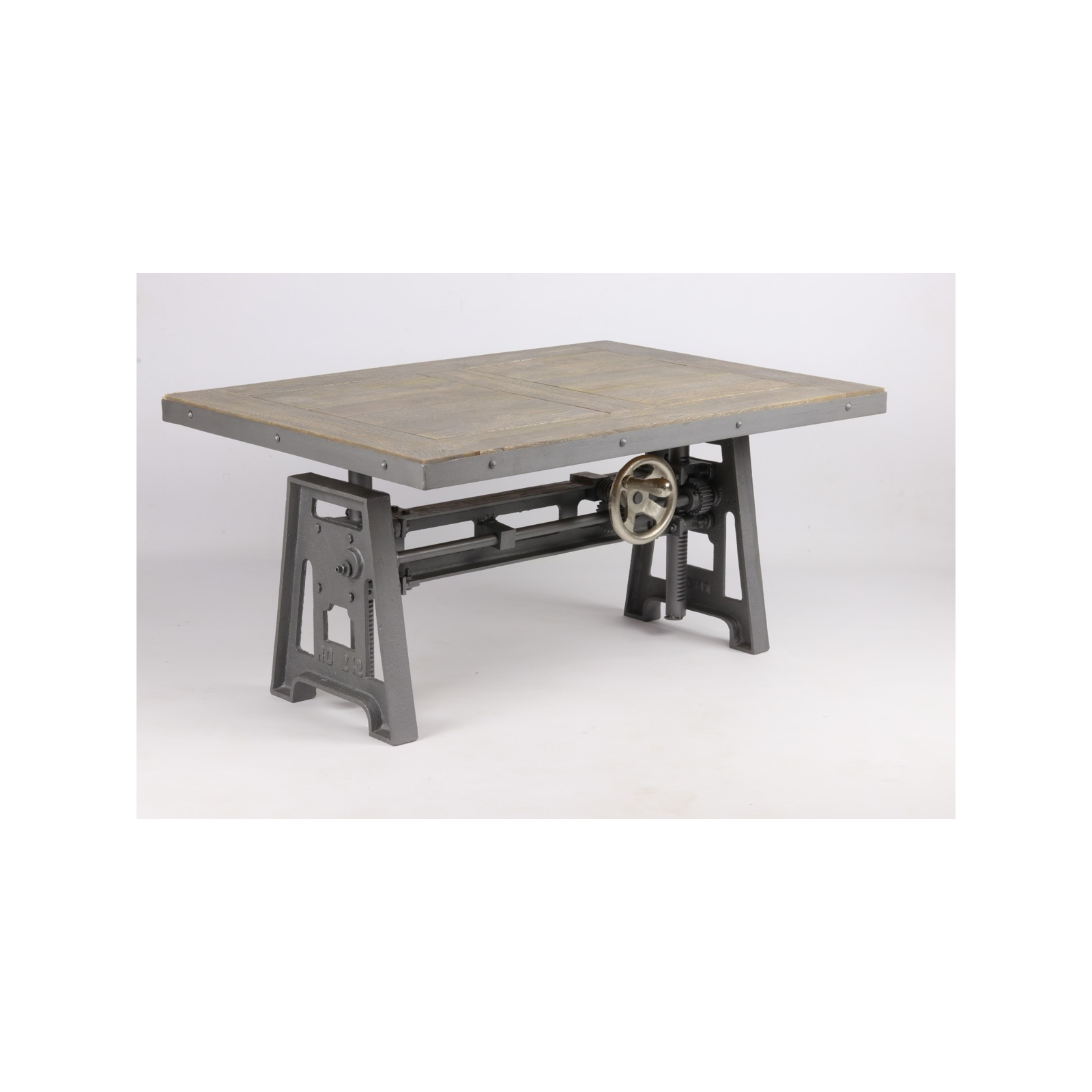 petite table basse industrielle manivelle jp2b d coration. Black Bedroom Furniture Sets. Home Design Ideas