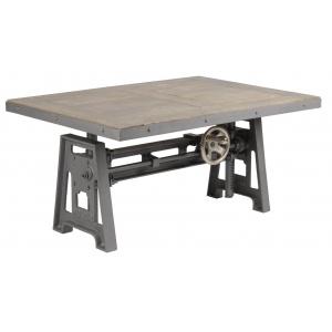 Petite Table basse industrielle à Manivelle