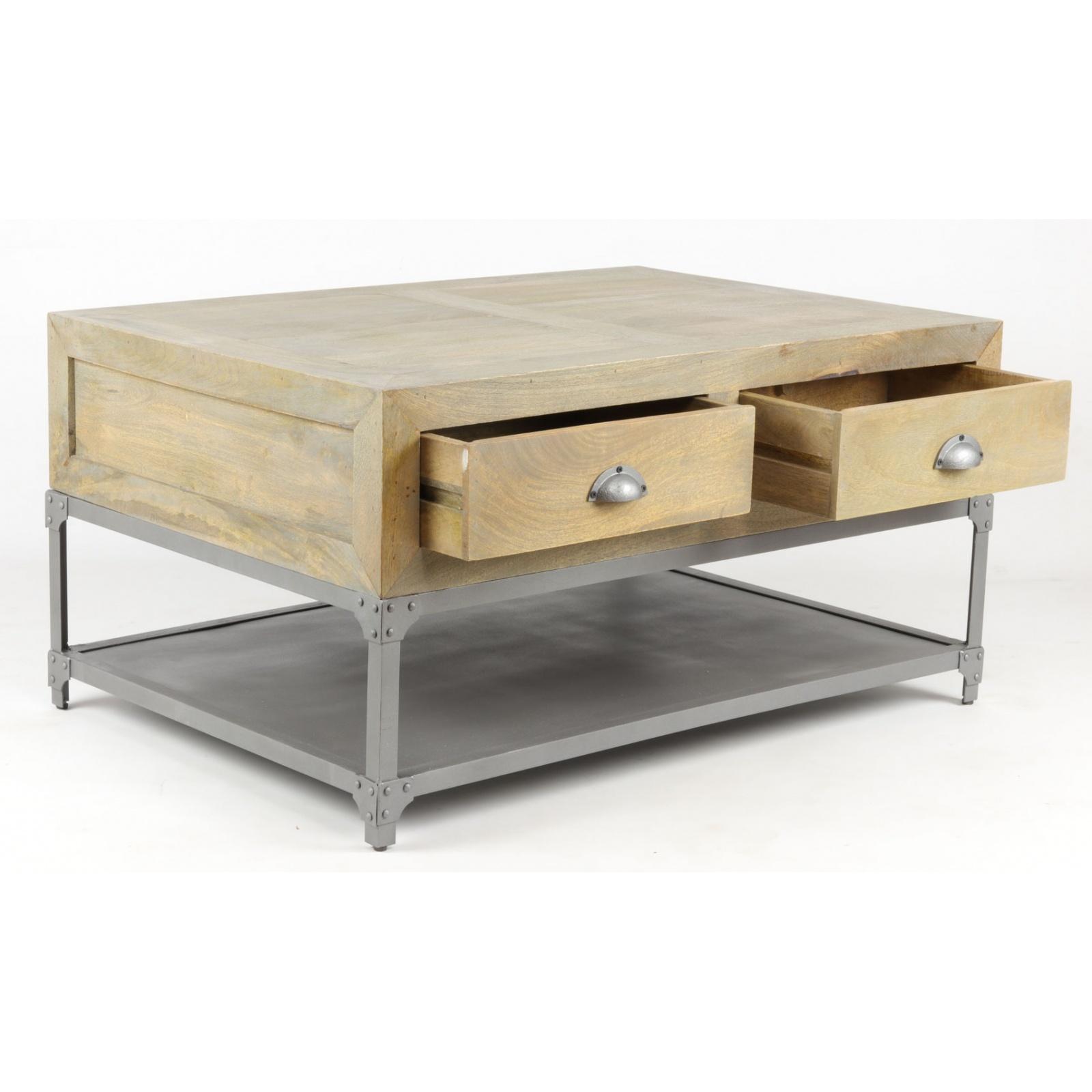 petite table basse industrielle jp2b d coration. Black Bedroom Furniture Sets. Home Design Ideas