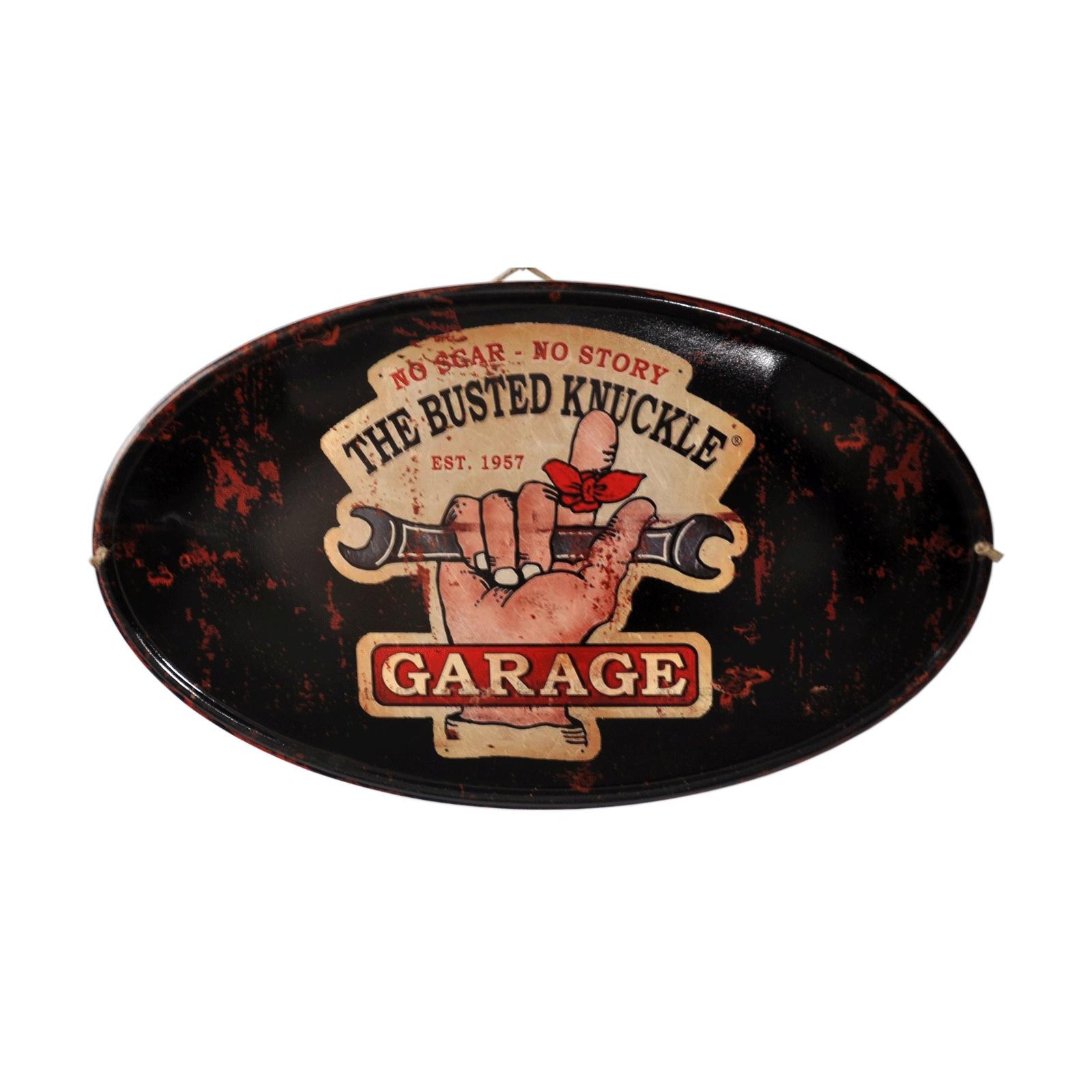 "Plaque  Ovale ""Garage"""