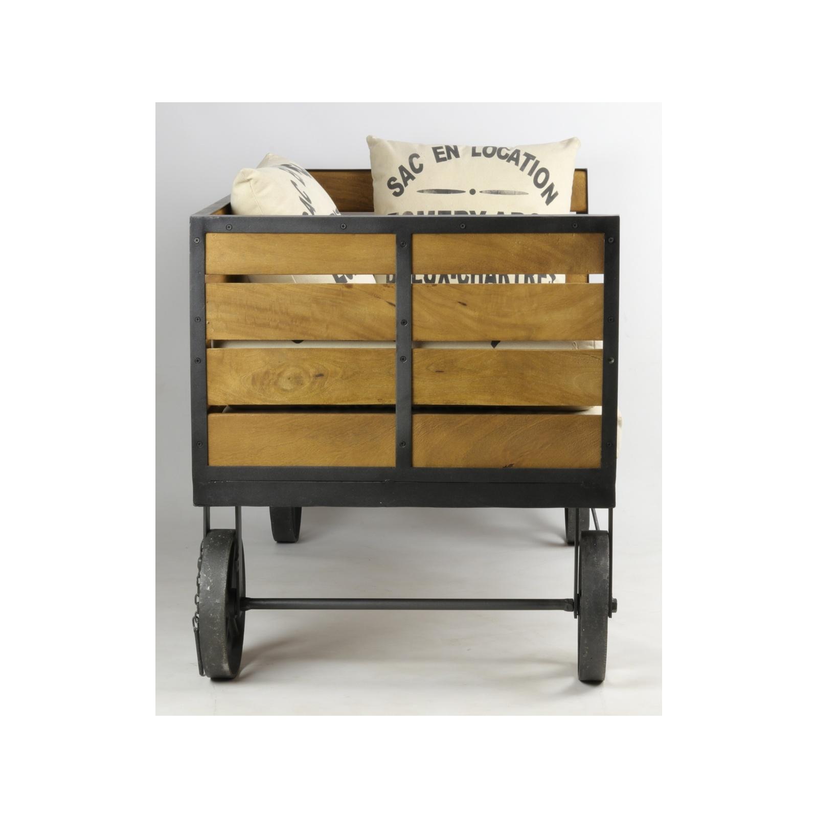 canap industriel. Black Bedroom Furniture Sets. Home Design Ideas