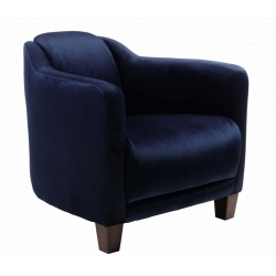 Fauteuil Gentleman Velvet bleu