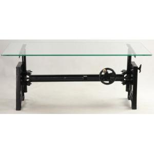 Table basse à manvielle verre