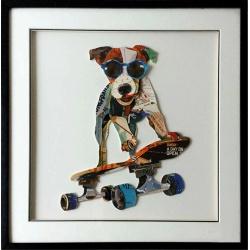 Chien sur Skate
