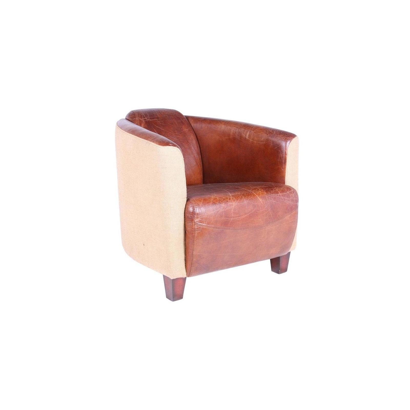 fauteuil cuir tissus cigar jp2b d coration. Black Bedroom Furniture Sets. Home Design Ideas