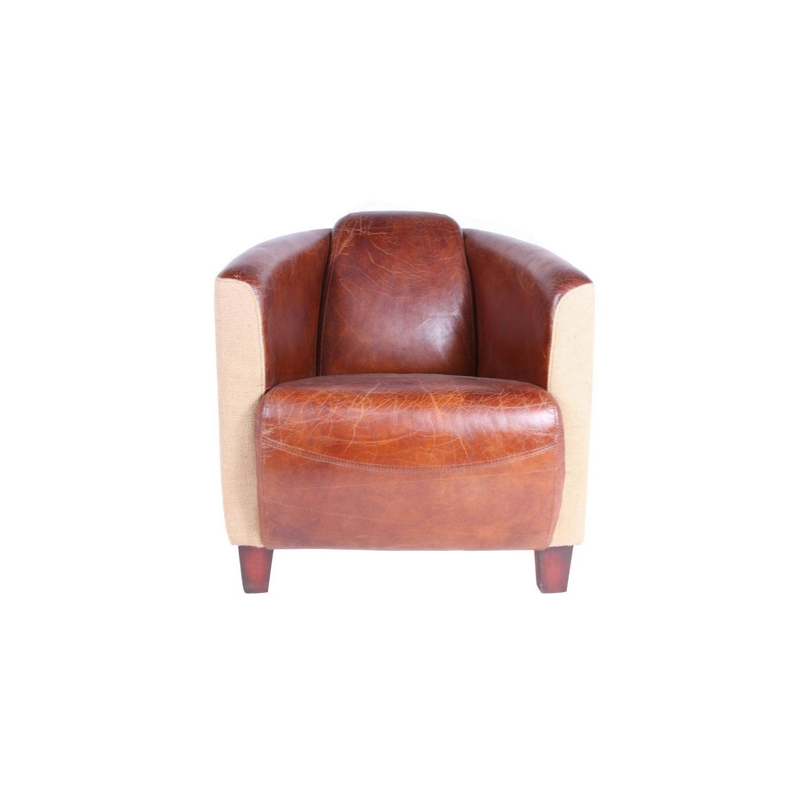 fauteuil cuir tissus cigar jp2b d coration. Black Bedroom Furniture Sets. Home Design Ideas