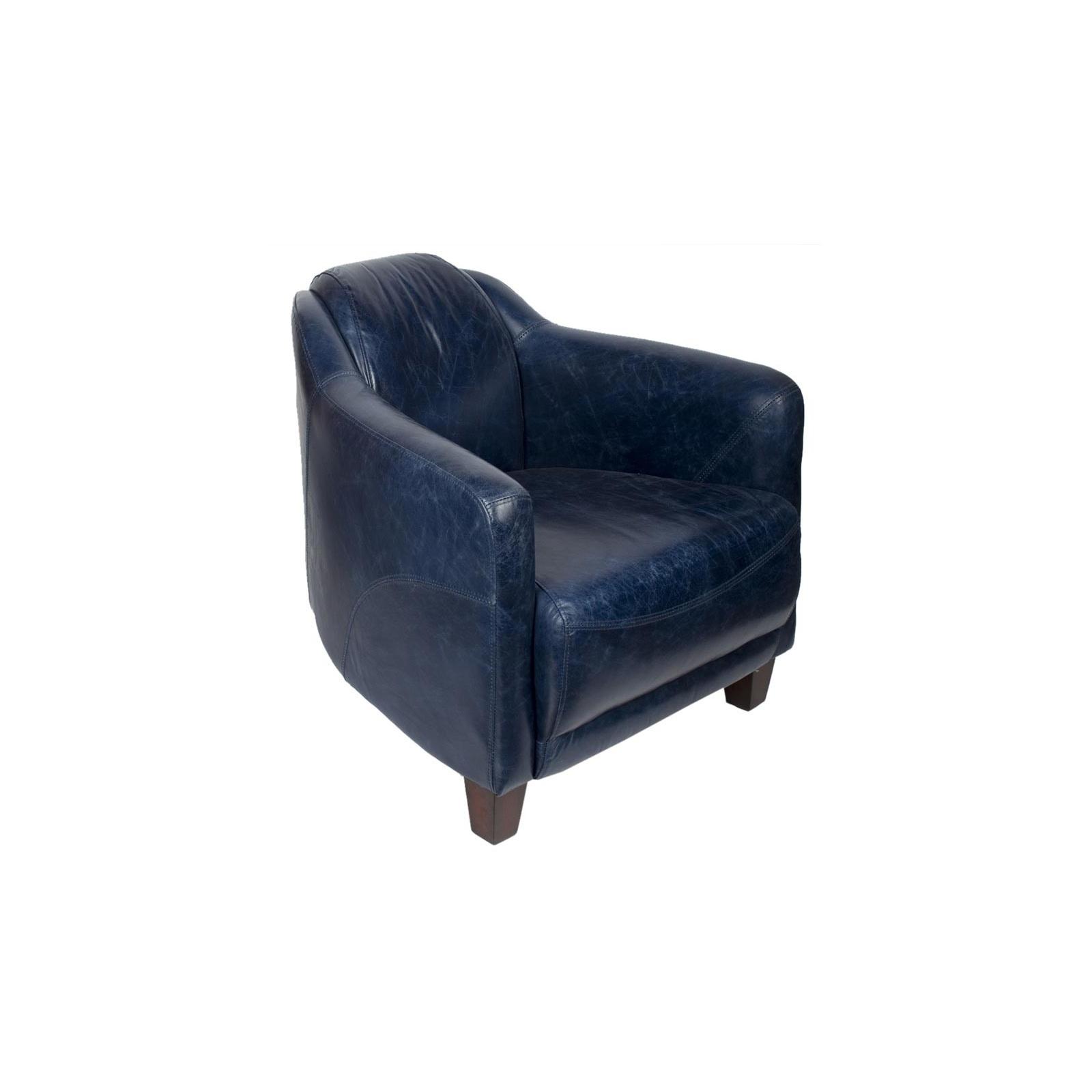 fauteuil gentleman bleu. Black Bedroom Furniture Sets. Home Design Ideas