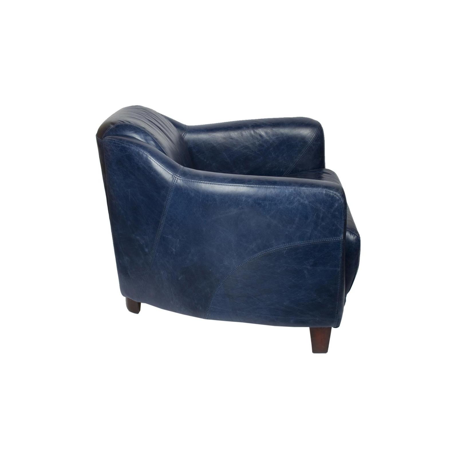 fauteuil gentleman bleu mc123. Black Bedroom Furniture Sets. Home Design Ideas